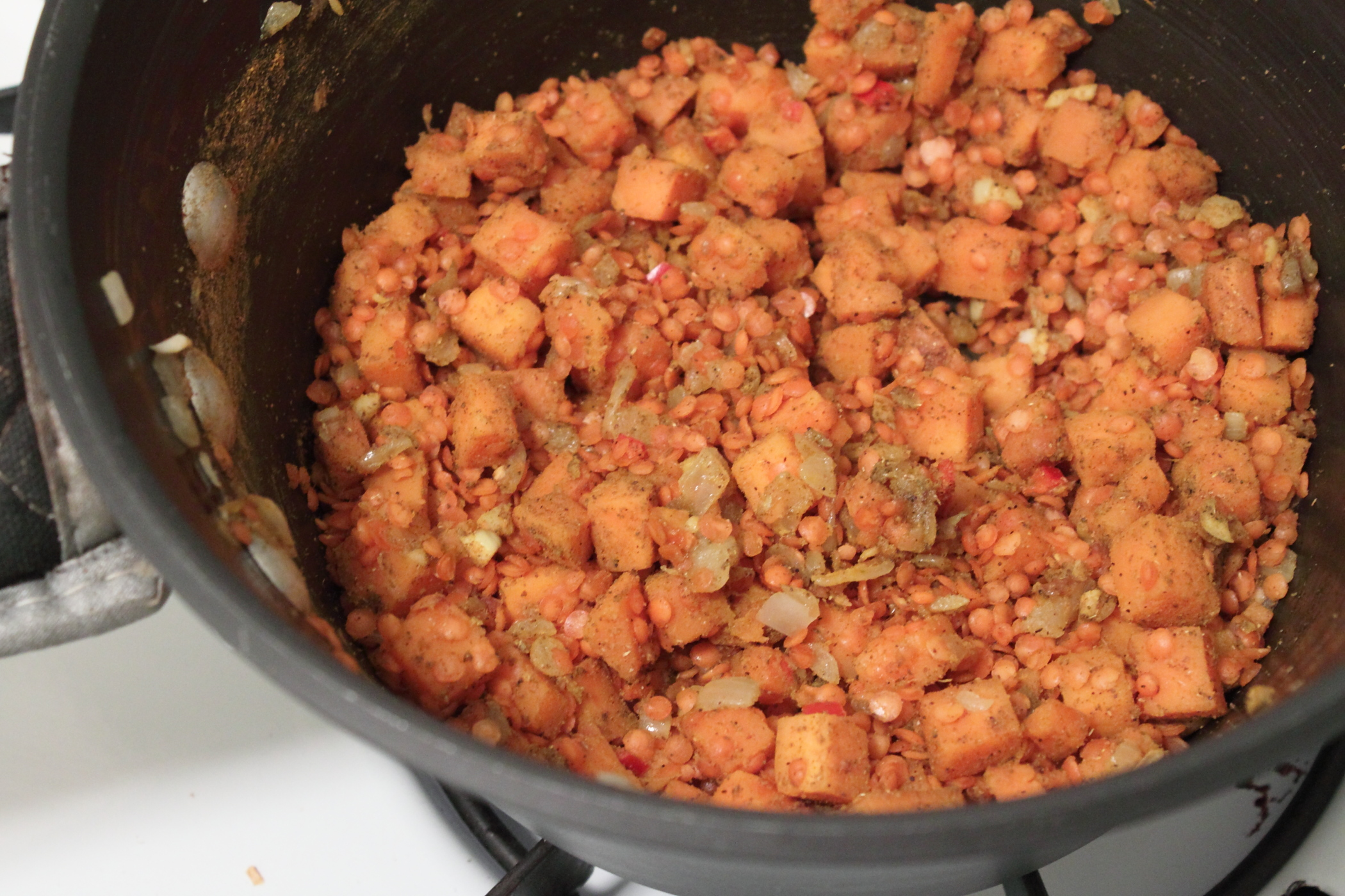 Red Lentils With Pearl Onion Recipe — Dishmaps