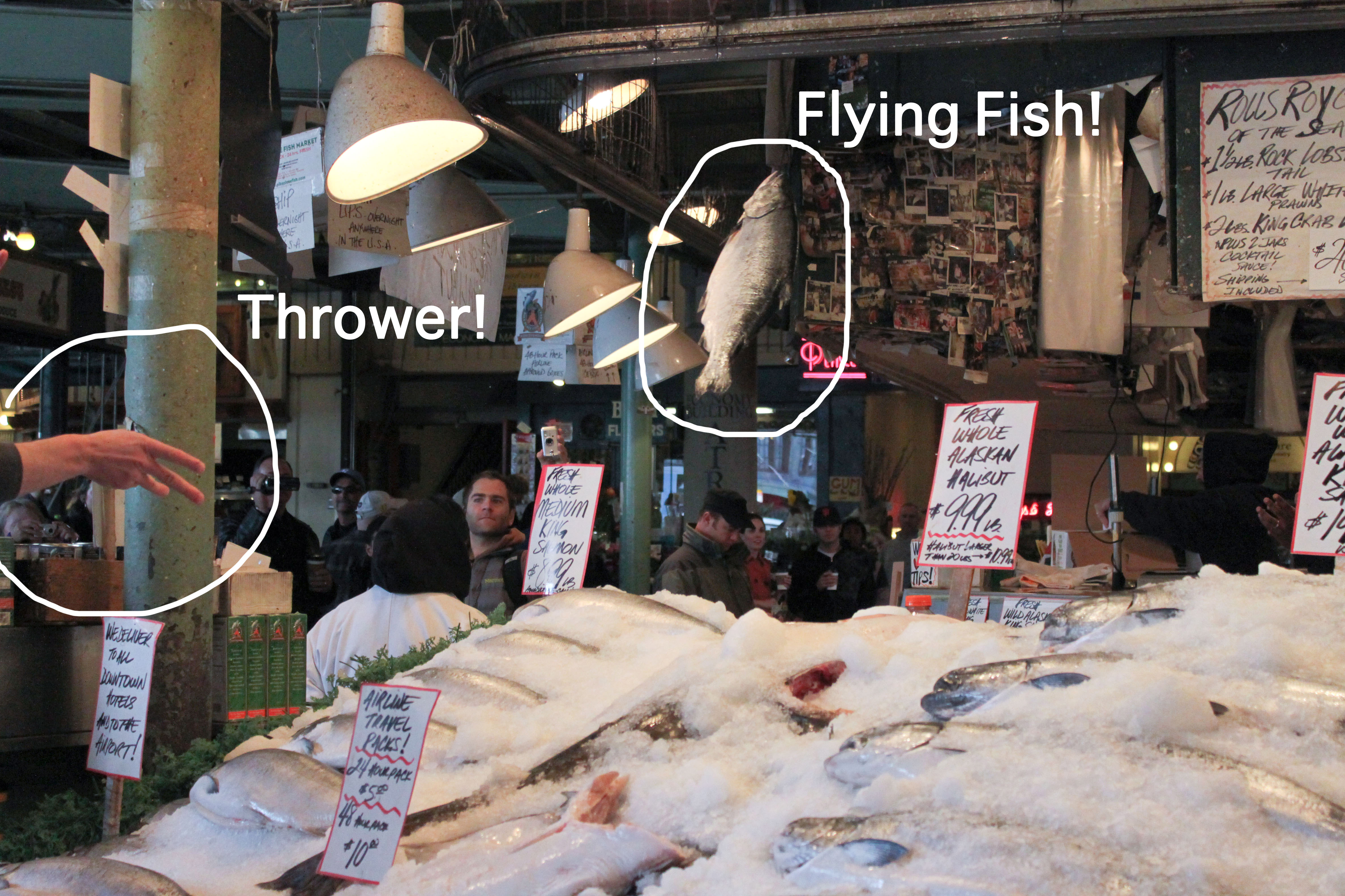 Pike place market seattle wa the pearl onion for Flying fish seattle